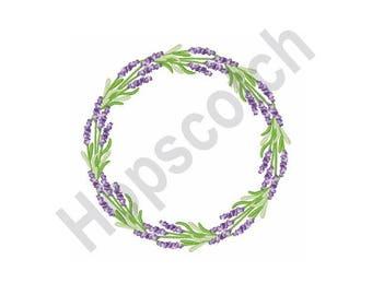 Lavender Wreath - Machine Embroidery Design