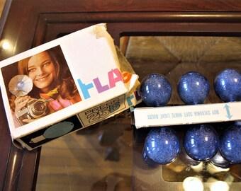 6 Press 25B Sylvania Blue Dot Flash Bulbs – Unused Vintage Flash Bulbs