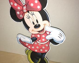 One foot Minnie Centerpiece/ Birthday Table Decorations/ Baby Shower/ Bedroom Decor