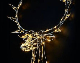 LED light up stag head wall mount