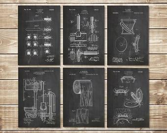 Bathroom Art Poster, Toilet Art Print, Bathroom Printable, Toilet Wall Art, Patent Print Group, Toilet Sign, Toilet Poster, INSTANT DOWNLOAD