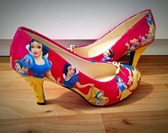 Made to order - Low/mid heel Disney princess inspired ladies shoes ballerina flats, normal fit and wide fit