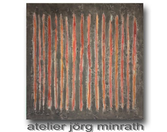 Abstract painting - tree paintings - contemporary original - painting on wood frame - 140 x 140 x 2 cm - modern art - unique