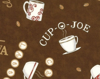 Java Cup-O-Joe Brown 19441-12 by Deb Strain for Moda - 1/2 yd cut