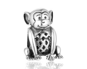 Naughty Monkey Silver Charm-Gift Packing Included-FREE Delivery