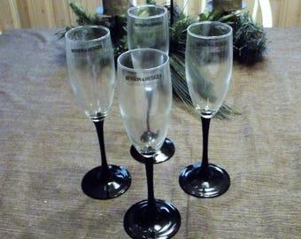 Benson & Hedges Champagne Glasses, Set of 4