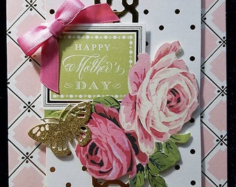 Handmade Greeting Card - Happy Mother's Day