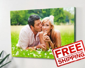 Photo portrait canvas Custom print on canvas Wedding gift Mom gift Anniversary Gift Wall Decor Printing your photos on canvas