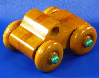 Wooden Toy Truck, Monster Truck, Reclaimed, Toy Truck, Wooden Truck, Toys, Pickup, Hardwood, Handmade, Handcrafted, Wood Truck, Made In USA
