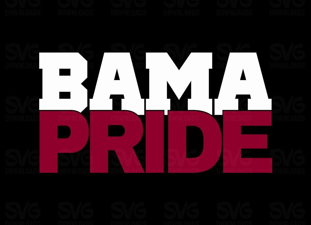Bama Pride Svg Graphic Alabama Crimson Tide