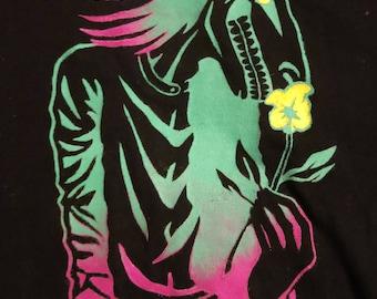 "T Shirt ""Floriferous"" Hand-Stencil"