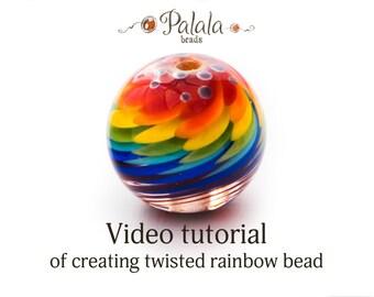 Lampwork bead tutorial video
