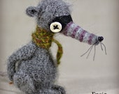 Ensio - Original Handmade Little Rat/Mouse/Collectable/Gift/Charm
