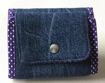 Purse/wallet/purse/clip pouch: denim