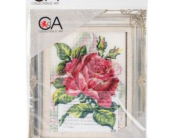 NEW! Rose Needlepoint Kit - 20cm X 25xm -SHIPS FREE