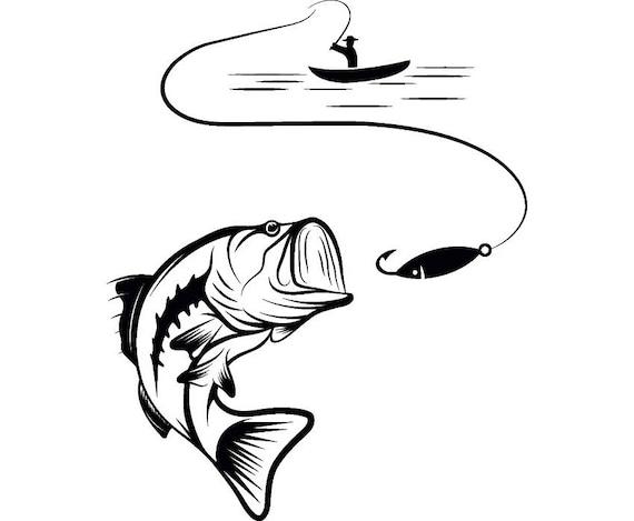 Bass fishing 4 logo angling fish hook fresh water hunting for Take me fishing org