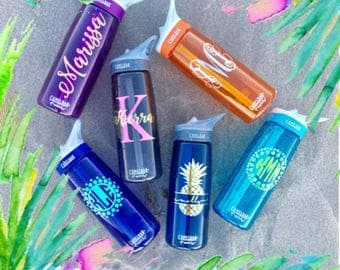Camelbak, Water Bottle with Personalized Custom Name, Gift for Her, Monogram Camelback, Water Bottle, Bridesmaid, Bridal Party