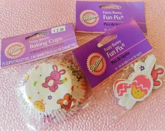 Easter/Bunny Baking Cups & Fun Pixs
