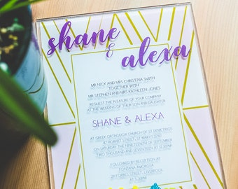 Acrylic Wedding Invitations Full Color