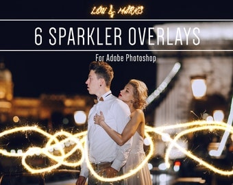 Sparkler Photoshop Overlays Professional Photo Editing for Portraits, Newborns, Weddings By LouMarksPhoto