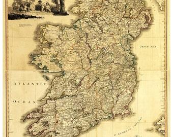 Map Of Ireland Etsy - Ireland map download