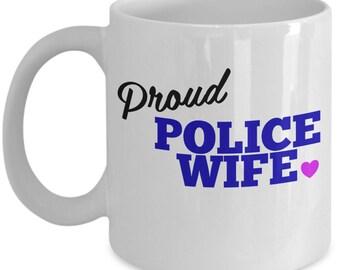 Proud Police Wife Mug - LEO Gift