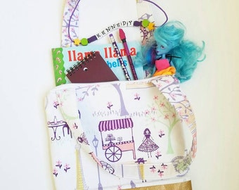 Girls tote,  Girls bag,  Activity bag,  Bible bag,