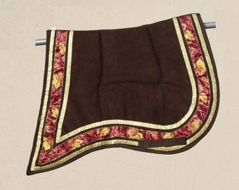 Handmade Saddle pad Gold Baroque