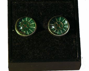 Earrings Cabochon clockwork Ohrringe