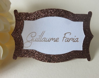 Personalized Place Cards, Glitter Place Cards, Copper Place Cards, Wedding Place Cards, Custom Place Cards, Bronze Place Cards
