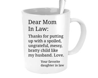 Mother in law gift, personalized mother in law mug, mothers day gift for mom in law, mother in law christmas gift, gift for mom in law