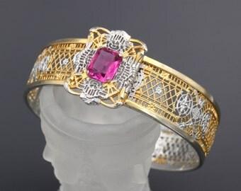 Art Deco Bracelet, Deco Filigree Bracelet, Edwardian Bracelet, Edwardian Filigree, Antique Filigree Bracelet