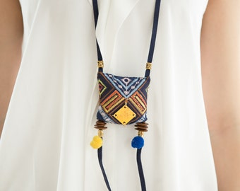 Pillow Tribal Necklace