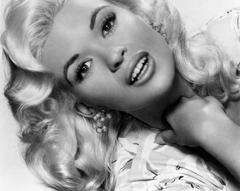Jayne Mansfield Film Actress Glossy Hollywood Black & White Photo Picture Print A4