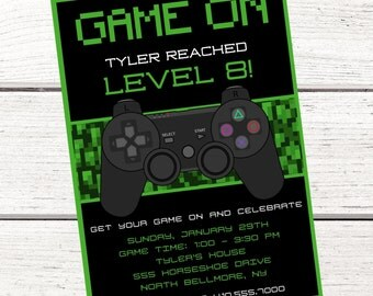 Video Game Party Invitations Gangcraft Net