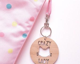 Crazy Cat Lady Keyring / Bag Tag