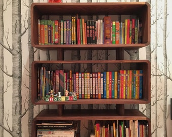 Hand Crafted Mid Century Modern Bookcase