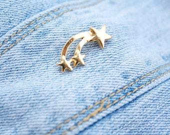 FREE SHIPPING Shooting Star Enamel Pin Galaxy Constellation Enamel Pin Star Mermaid Wish upon a star Best Friends