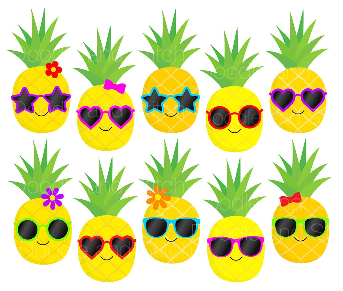 Pineapple Clip Art Pictures Pineapples In Sunglasses