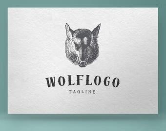 Wolf Logo, Premade Logo Design, Animal Logo, Photography Logo, Logos and Watermarks, Custom logo