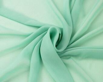 Hi Multi Chiffon Fabric - 10 Yards - Mint (LF1)
