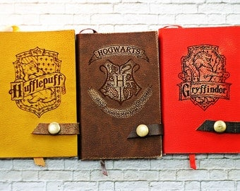 A6 HP Harry Potter Notebook  Collection Notepad Sliderin Pocket Adventure Book Leather Fan Geek Gift for Travelers