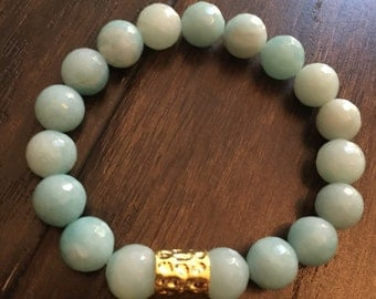 Light Aqua beaded bracelet