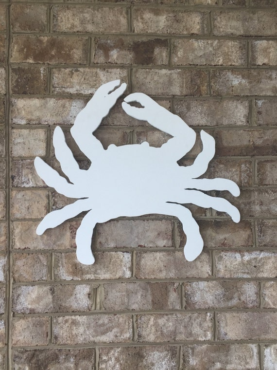 Crab ready to decorate - maintenance free PVC wood outdoors or indoors