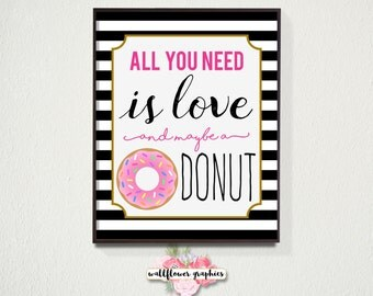 Kate Spade Wall Decor all you need is love and maybe a donut wall art // kate spade