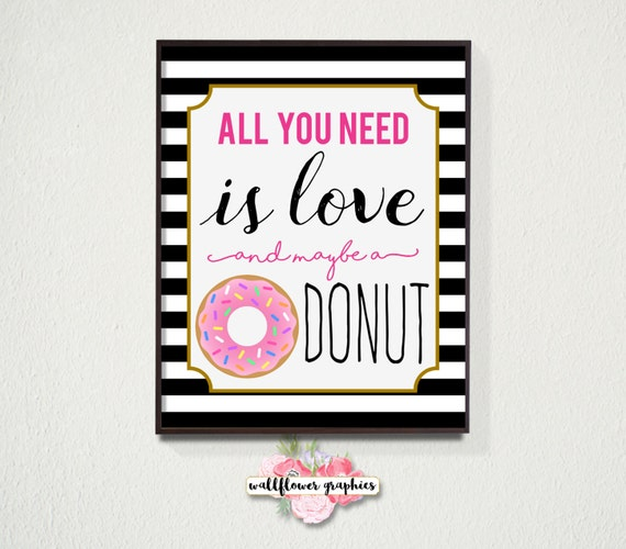 Kate Spade Wall Decor all you need is love and maybe a donut wall art // kate spade wall