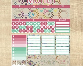 Erin Condren Vertical Monthly Kit - To the Moon & Back - Any Month!
