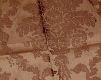 Home Dec Vintage Brocade Fabric Brown