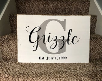 Custom last name sign | established date sign with with last name | Anniversary gift | Wedding gift | Mother's Day gift