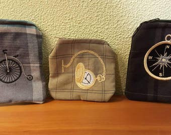 Upcycled Steampunk Coin Purses